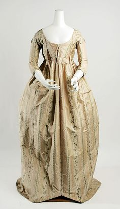 Dress  Date: 1796–99 Culture: French Medium: silk Dimensions: Length at CB: 59 in. (149.9 cm) Credit Line: Gift of International Business Machines Corporation, 1960 Accession Number: C.I.60.22.14