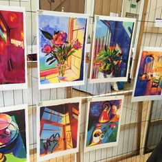 Paul's colourful paintings  at Swaffham Prior today #priorartsgroup