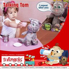 Hello my friend,talk to me please...  Talking tom for babies @ Angels Family Shop  Visit: www.angelsfamilystop.com #MakeupTip #AngelsFamilyShop #Cosmetics #FashionJewellery #GiftArticles #HandBags #JustBorn #Lingerie #ToysNGames