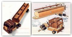Wooden Toy Tanker Truck Plans - Wooden Toy Plans and Projects | WoodArchivist.com