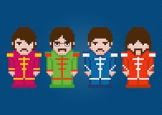 The Beatles Rock Band Cross Stitch PDF Pattern Download via Etsy http://www.etsy.com/listing/102760129/the-beatles-rock-band-cross-stitch-pdf