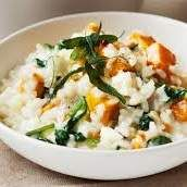 Recipe Roasted Pumpkin, Feta and Chicken Risotto by learn to make this recipe easily in your kitchen machine and discover other Thermomix recipes in Pasta & rice dishes. Risotto Recipes, Pasta Recipes, Rice Recipes, Risotto Dishes, Vegetarian Dinners, Vegetarian Recipes, Savoury Recipes, Veggie Recipes, Rice Dishes