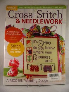 Cross Stitch & Needlework Magazine May 2011 Bee Spring Angel Mother Wedding New
