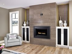 Modern Fireplace Tile Surrounds | Fireplace | Pinterest ...