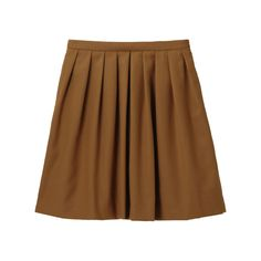 UNIQLO WOMEN WOOL BLENDED FLARE SKIRT (BROWN)