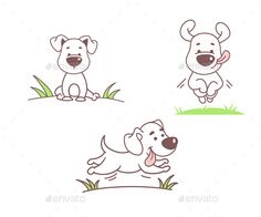 Set of Dogs - Animals Characters