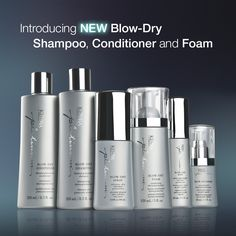 The Kenra Platinum Blow-Dry Collection -Reduces blow-dry time -Provides thermal defense up to 428ºF (220ºC) -Increases shine -Ideal for all hair types -Blow-Dry Shampoo and Conditioner protect haircolor for up to 40 shampoos