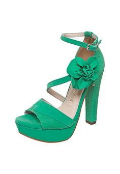 Sandal Via Via Mars Mars Texture Green - Buy Now | Dafiti