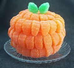 Cute Candy Pumpkin for a party table!