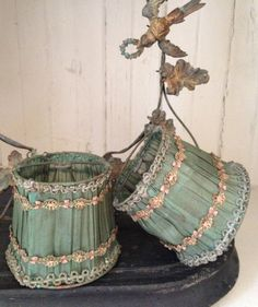 antique pair early 1900s French petite silk by histoireancienne