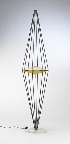 floor lamp with special design | lighting . Beleuchtung . luminaires | Design: Ettore Sottsass | Arredoluce |