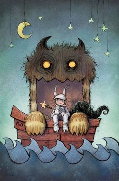 Caring Books for Kids, Easy way to Cheer them up!  Here' s a favorite! Where the Wild Things Are