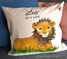 Leos Löwe, Kissenbezug zur Geburt aus Bio-Baumwolle
