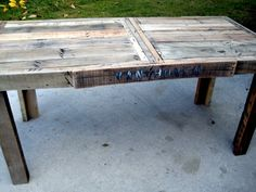 Reclaimed Wood Farmhouse Dining Table by RustedCreek on Etsy, $360.00