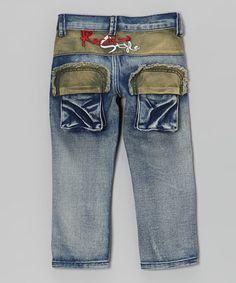 Another great find on #zulily! Blue Denim Zip-Front Jeans - Toddler & Boys #zulilyfinds