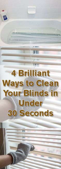 4 Brilliant Ways to Clean Your Blinds in Under 30 Seconds