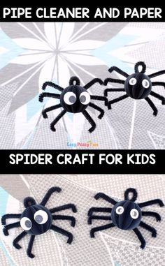 Halloween is a great holiday for crafting, so many fun creatures and things to choose from – today we will show you how to make the most adorable (spooky) pipe cleaner spider craft. Halloween Arts And Crafts, Halloween Crafts For Toddlers, Diy Halloween Decorations, Christmas Crafts For Kids, Halloween Diy, Kids Crafts, Fall Crafts For Kids, Toddler Crafts, Kids Diy