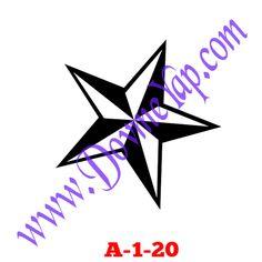 Yıldız Geçici Dövme Şablon Örneği Model No: A-1-20
