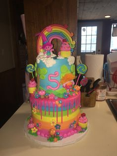 Trolls cake   Credit: Grace at Crest, Norman, OK