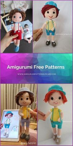 Amigurumi Tarçın Doll Free Crochet Pattern - Amigurumi Patterns Pic2re Crochet Elephant Pattern Free, Doll Amigurumi Free Pattern, Crochet Basket Pattern, Amigurumi Doll, Free Crochet, Crochet For Boys, Crochet Dolls, Frozen Princess, Doll Hair