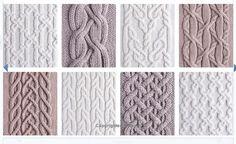 Cable Knitting Patterns, Knitting Charts, Knitting Stitches, Knitting Needles, Knit Patterns, Hand Knitting, Stitch Patterns, Khadra, Celtic Patterns