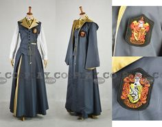I really love this interpretation of the Hogwarts uniforms. I like that it's not just a standard muggle school uniform with a robe over the top. Very creative!