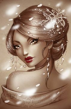 Winter Geisha by Sabinerich.deviantart.com on @deviantART