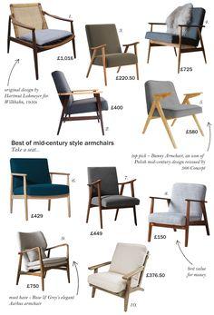 best of mid century armchairs