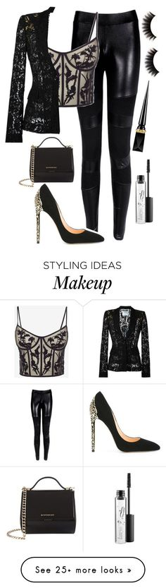 """Untitled #932"" by thekaylabella on Polyvore featuring Alexander McQueen, Cerasella Milano, Moschino, Givenchy, Christian Louboutin and MAC Cosmetics"