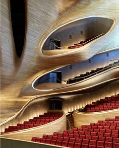 Organic Shape. Harbin Opera House in #China design by MAD Architects / Photo by Hufton+Crow.  Check us out in Snapchat! @d.signers (Link in bio) Tag an #Architecture lover! #d_signers --- #design #designer #instahome #instadesign #architect #beautiful #home #homedesign #art #luxuryhome #interiordesign #goals #interior #luxury #lighting #decor #follow #modern #china #operahouse #house #staircase #wood
