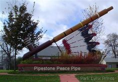 Giant Pipestone Pipe near National Monument Mosey and I visited here on June 30, 2015.  Beautiful place!