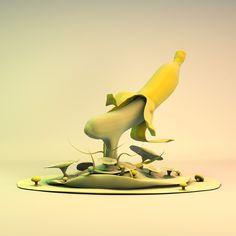 Bananamushroom #3D #3Dmodeling #Cinema4d