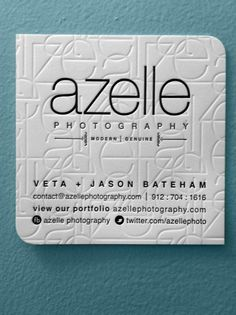 Letterpress photography business cards