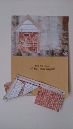 Lesson 4 The Builders craft - see my (Jane Petite) previous pin. This photo shows the house on the sand fallen down.
