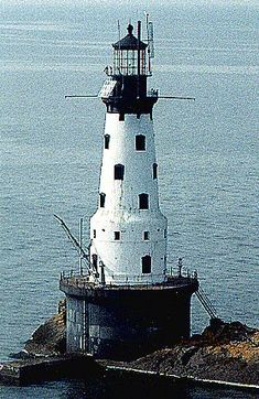 Rock of Ages Lighthouse in Isle Royale National Park, Michigan is located on an exposed rock, 2.5 miles off the western end of Isle Royale in Lake Superior.