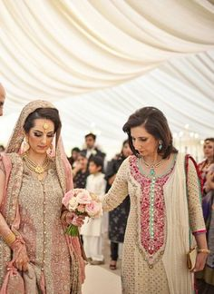 Image result for pakistani bridal gown same suits with mom