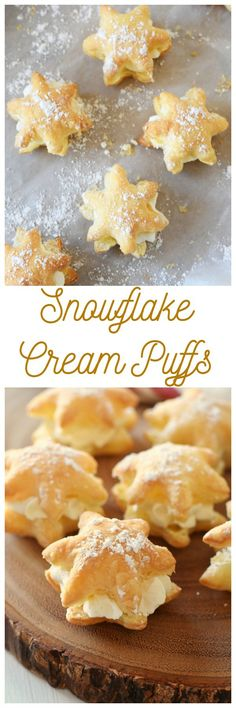 Minute Snowflake Cream Puff 20 Minute Snowflake Cream Puffs- Looking for a quick and easy bakery-style dessert? These snowflake cream puffs are for you then! They are made with real whipped Minute Snowflake Cream Puffs- Looking for a quick and eas Puff Pastry Desserts, Tasty Pastry, Choux Pastry, Puffed Pastry Appetizers, Puff Pastry Recipes Savory, Puff Pastries, Flaky Pastry, Holiday Baking, Christmas Baking