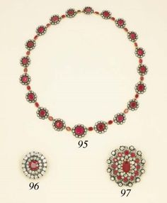 An Attractive Antique Ruby and diamond necklace Victorian Jewelry, Gothic Jewelry, Jewelry Art, Jewelry Accessories, Jewellery, Antique Jewelry, Ruby And Diamond Necklace, Ruby Necklace, Pendant Necklace