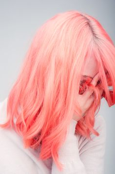 peach colored hair