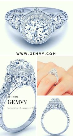 Engagement Rings – Page 9 – Modern Jewelry Wedding Rings Solitaire, Round Diamond Engagement Rings, Three Stone Engagement Rings, Vintage Engagement Rings, Expensive Engagement Rings, Designer Engagement Rings, Expensive Rings, Beautiful Rings, Bling