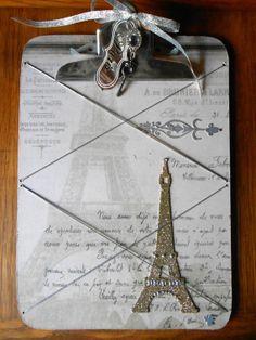 Embellished Paris Clipboard Photo Holder Memo. by tawnystreasures, $26.00