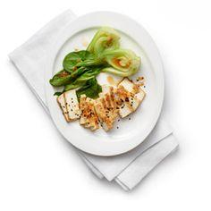 miso-glazed tofu with baby bok choy by chef candice kumai | myrecipes.com