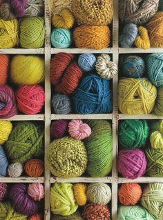 Ovillos de lana.