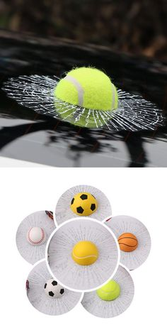 [Visit to Buy] ETIE Car Styling Baseball Funny Car Stickers and Decals Tennis Hits Car Window Sticker Design Motorcycle Accessories Auto Audi #Advertisement