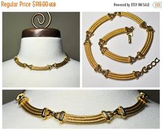 ON SALE Vintage CHRISTIAN Dior Gold Curved by HauteVintageJewels