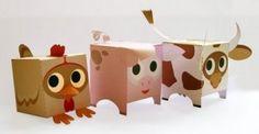 Cute Farm Animal Paper Craft