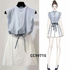 Cute Fashion, Asian Fashion, Girl Fashion, Korean Outfits, Trendy Outfits, Cute Outfits, Fashion Drawing Dresses, Fashion Dresses, Mode Kpop