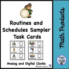Routines and Schedules Task Cards SamplerRoutines and schedules are important for many people. They help to avoid the unexpected by knowing what is happening in advance. They also provide for some consistency. This doesnt mean that there wont be some times when there are changes, but those changes will be better handled if there is preparation ahead of time.This is a sampler of some of the routines and activities that are common.Each card has a visual of the activity as well as the words…