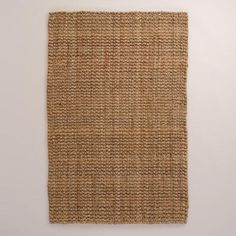 Natural Basket Weave Jute Rug