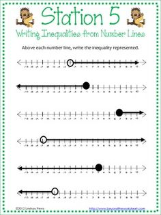Worksheets Graphing Inequalities On A Number Line Worksheet worksheets math and on pinterest